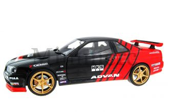 Nissan R34 GTR Drift Evocation 1999 Scale Model