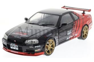 Nissan R34 GTR Drift Evocation 1999 Diecast Model